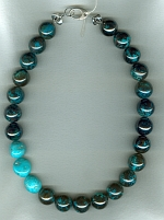 Chrysocolla with Sleeping Beauty Turquoise necklace CC6181