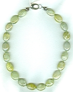 Australian Sun Jade with faceted Peridot necklace NUG2701