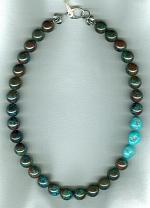 Chrysocolla with AAA quality Sleeping beauty Turquoise necklace NUG2704