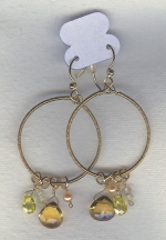 SPECIAL PURCHASE!!  Yellow faceted CZ drop earrings FAC8089