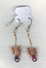 SPECIAL PURCHASE!!  Orange faceted CZ drop earrings FAC8102
