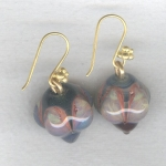 Lampworked glass earrings VEN4298