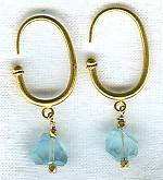 Faceted Aquamarine nugget earrings FAC1522