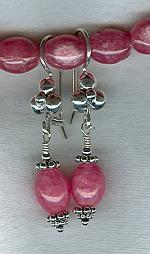 Rhodocrosite barrel earrings FAC1680