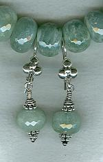 Aquamarine rondel earrings FAC1684