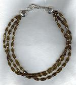 Olive Tourmaline barrels with Tourmaline rondell necklace FAC1685