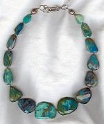 Peruvian Opal and Labradorite nugget necklace FAC1690