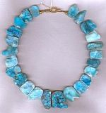 Sea blue Hemimorphite druzy tile collar CC6133