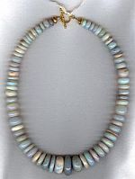 Blue green Opal rondel necklace CC6135