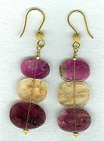 Imperial Topaz and pink Tourmaline earrings CC6183