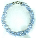 Holly blue Chalcedony briolette necklace CC6188