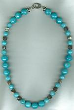 AA Brazilian Amazonite and faceted Labradorite necklace FAC8004