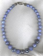 Blue Chalecedony necklace FAC8178