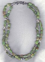 2 strand Kingman Mine turquoise necklace FAC8184
