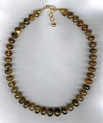 Green Amber rondel necklace FAC1717