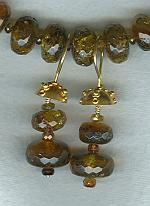 Amber and faceted Tourmaline earrings FAC1718