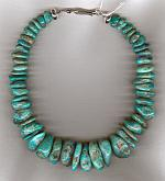Crescent Valley Turquoise rondel necklace NUG2500