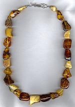 Amber and whisky Citrine nugget necklace NUG2504