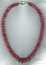 Natural Ruby necklace CC6139