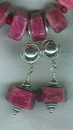 Ruby hexagon earrings CC6140