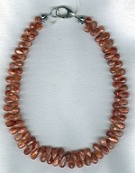 Sunstone teardrop briolette necklace FAC1918