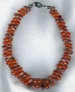 Tangerine Carnelian and irridescent Sunstone necklace FAC1919