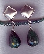 Emerald drop earrings FAC1922