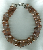 Red Rutilated Quartz briolette necklace CC6192