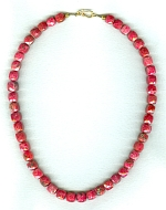 Natural Ruby cube necklace CC6193