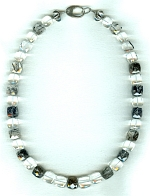 Rock Crystal and black Tourmalated Quartz necklace FAC8006