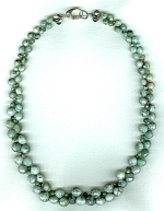 Faceted Emerald onion and briolette necklace FAC8008