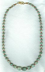 Carved Emerald melon and Ruby necklace FAC8011