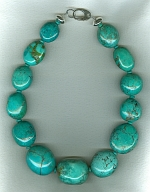 Large Mexican Turquoise nugget necklace NUG2713
